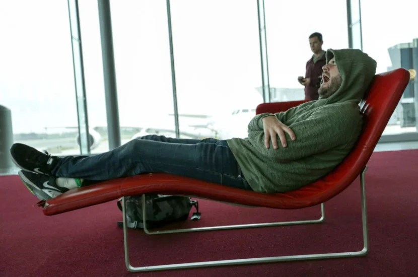 I was so sleepy waiting at the gate and couldn't wait to board the A350.