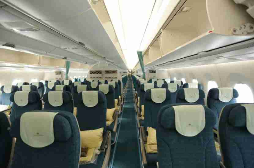 A sneak peek of the premium economy cabin on Vietnam