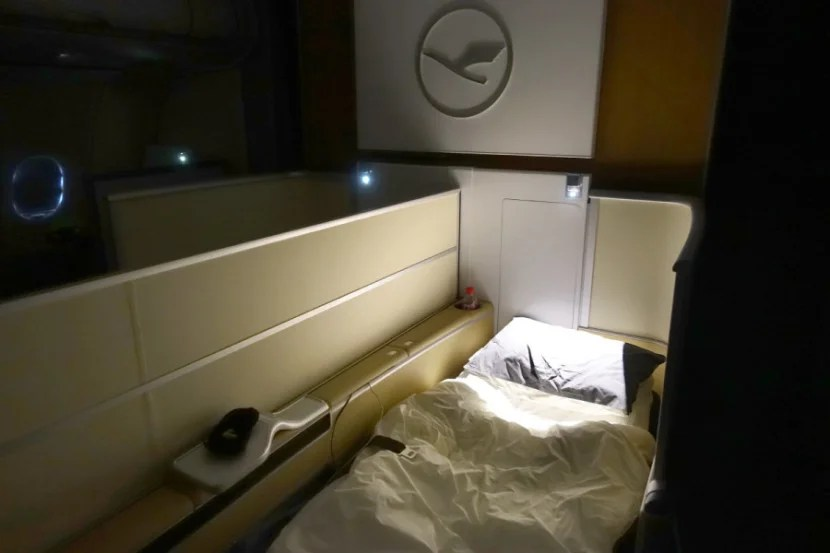 Lufthansa offers turn-down service on all of its long-haul flights.