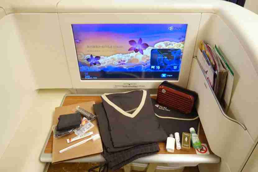 First-class passengers get pajamas and a Rimowa amenity kit.