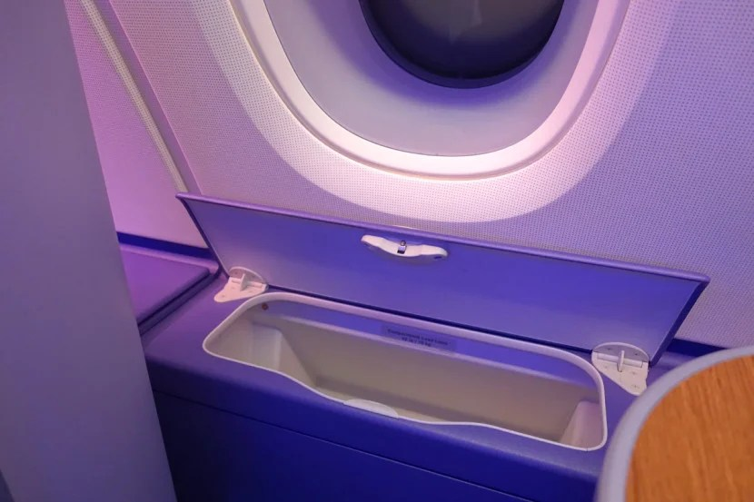 Window seats also offer additional storage.