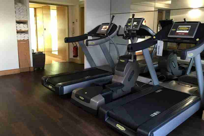 The Grand Hyatt Cannes gym.