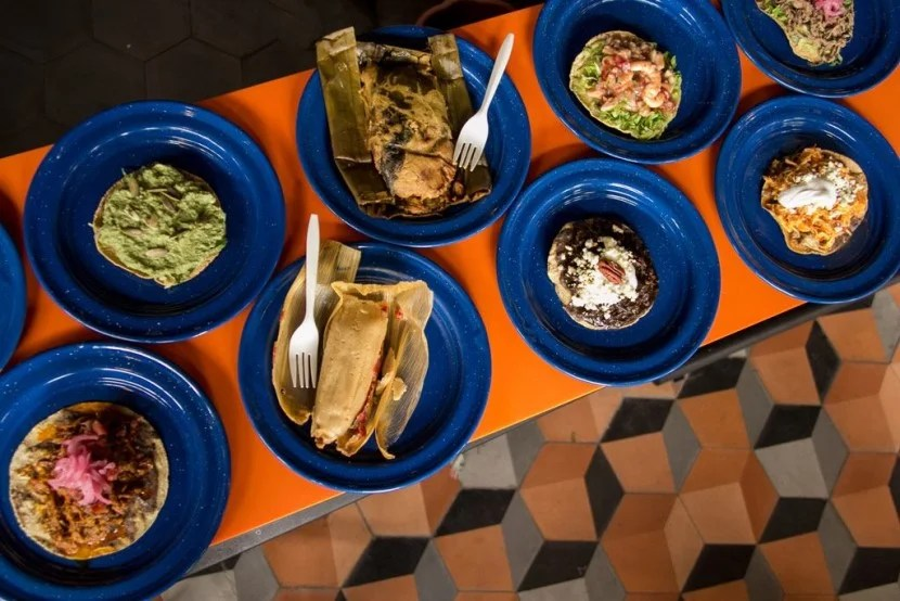 Eat your way through the Mercado Roma. Image courtesy of Ricardo Muñoz Zurita from Azul Restaurants at the Mercado Roma.