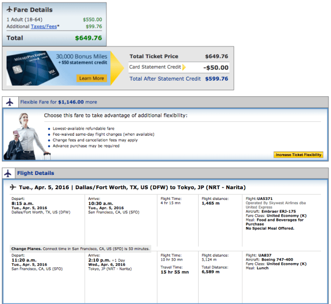 Dallas (DFW) to Tokyo (NRT) for $650 on United.