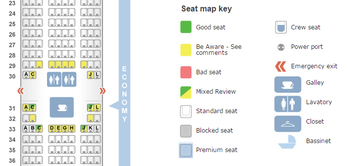 Diagram For Choosing A Good Seat On The Plane Manual Guide