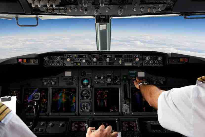 View from the cockpit. Photo courtesy of Shutterstock.