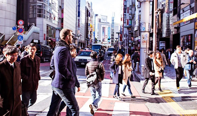 Walking around the streets of Tokyo.