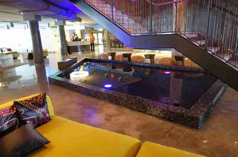 "The indoor ""pool."""