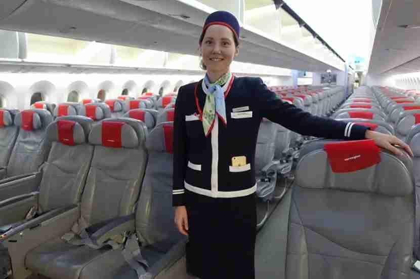 The cabin chief on my JFK-OSL flight, Ilse, who was very nice.
