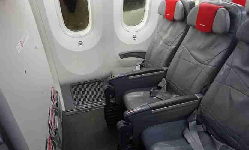 My bulkhead window seat — 7J.