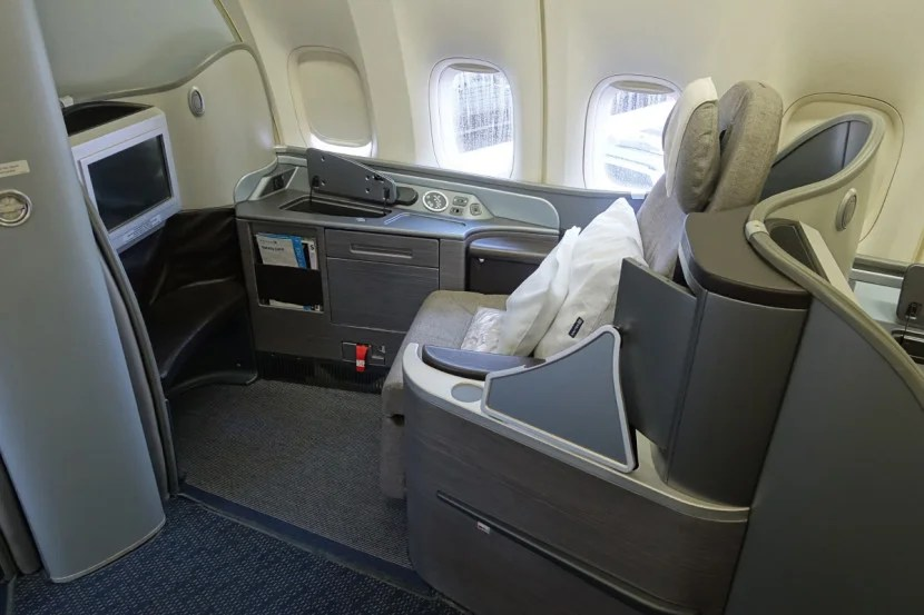 My seat (1K).