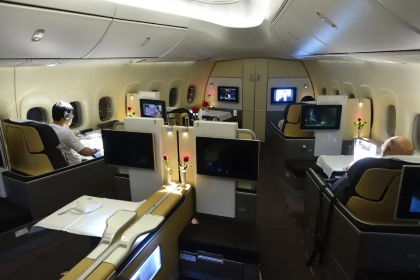Lufthansa's 747-8 has a slightly different cabin layout.