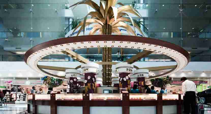 In order to shop duty free at DXB, you