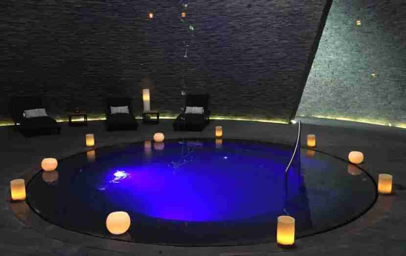 The beautiful pool in the heart of the Cenote Spa.