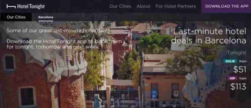 Get last-minute hotel deals with Hotel Tonight.