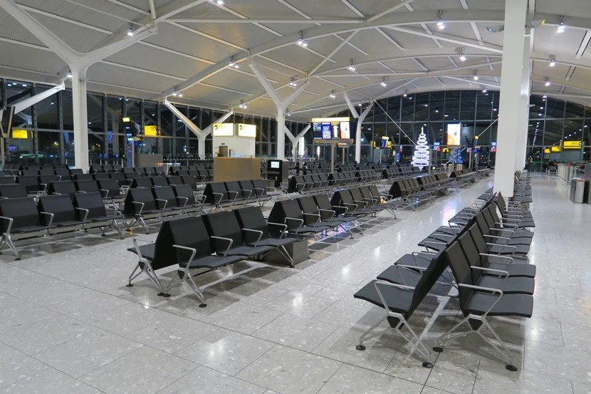 LHR Terminal 5C's gates were remarkably empty this time of night.