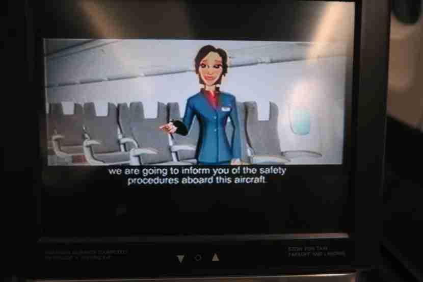 The Iberia business in-flight entertainment screens weren