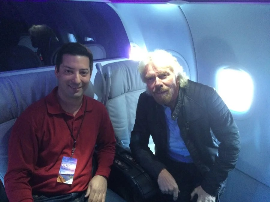 I had a chance to spend a few minutes with Sir Richard Branson, shortly after he arrived on Virgin America's inaugural flight to Denver.