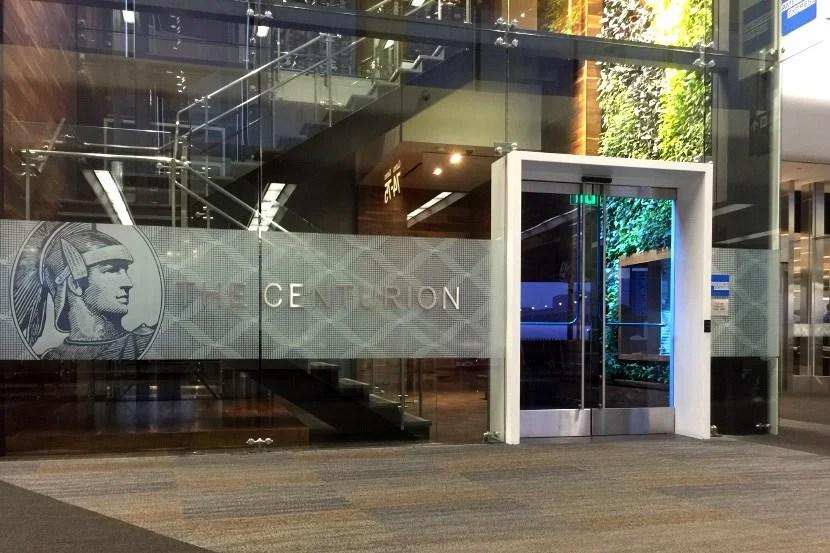 SFO Centurion Lounge entrance.