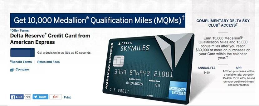 Earn up to 40,000 MQMs in your first year with the Delta Reserve Credit Card from American Express.