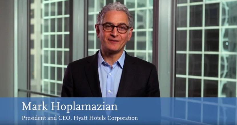 Hyatt's CEO introduced the new brand.