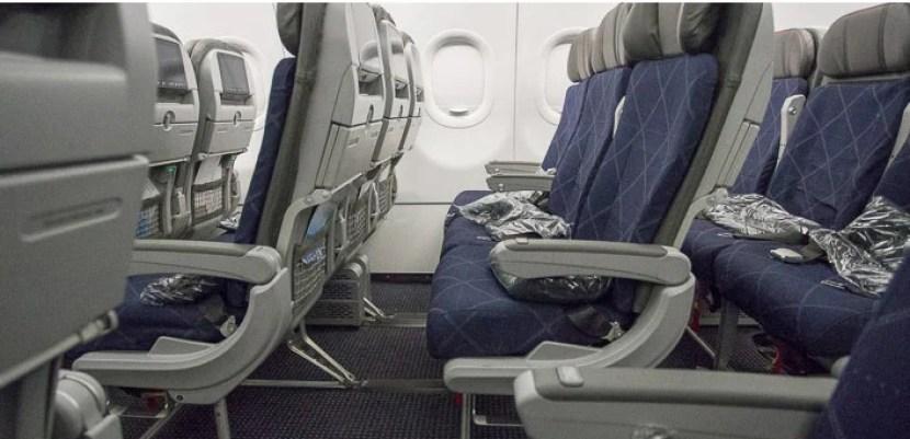 American's A321T economy seat.