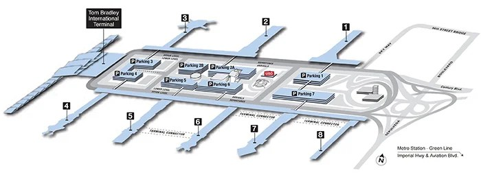 The end of terminal 4 is actually a very short walk to the end of the Tom Bradley International Terminal.