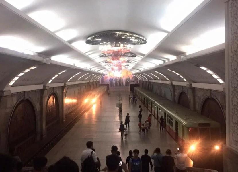 Subway in North Korea.