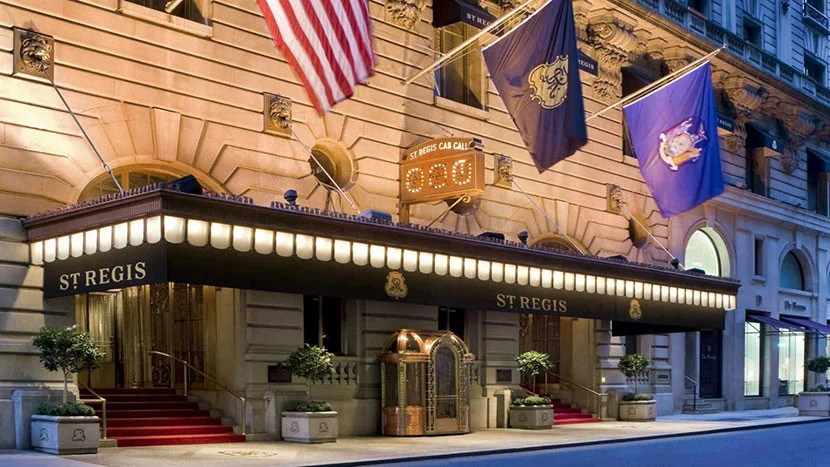 The entrance to the St. Regis New York, the flagship property for the brand. Image courtesy of SPG.