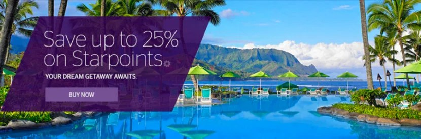 Should you buy Starpoints for up to 25% off?