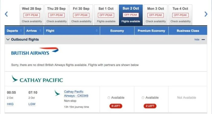 You can already find availability on the HKG-LGW route using BritishAirways.com.