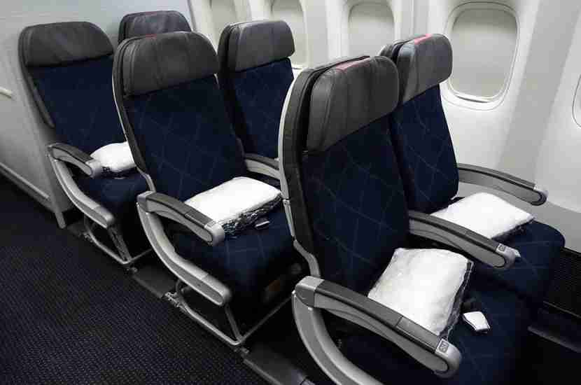 The three two-seat rows at the back of AA