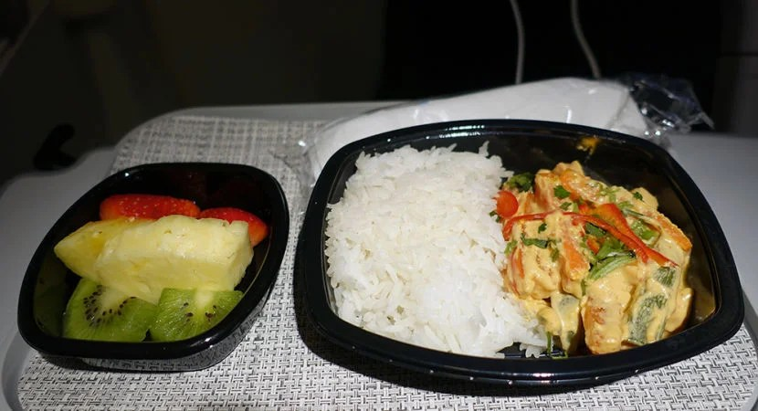 My meal on the return flight.