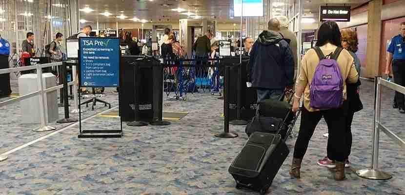 The TSA PreCheck line was quite short.