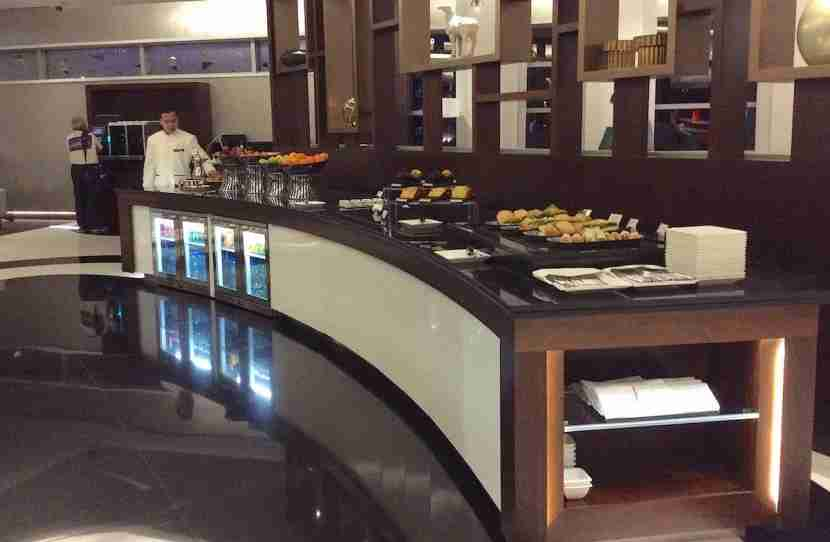 One of the buffet areas.