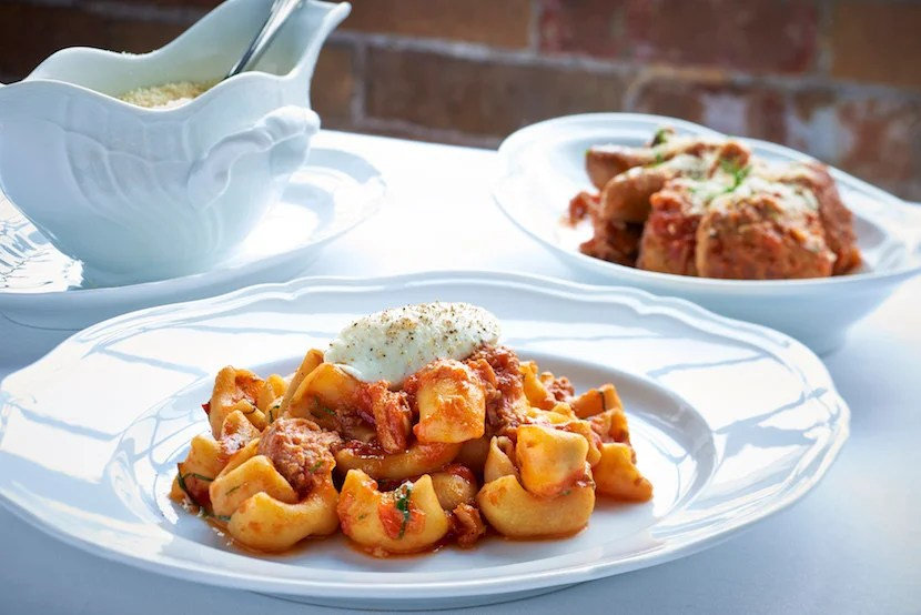 Formento's Canestri with Sunday Gravy. Image courtesy of Choose Chicago.