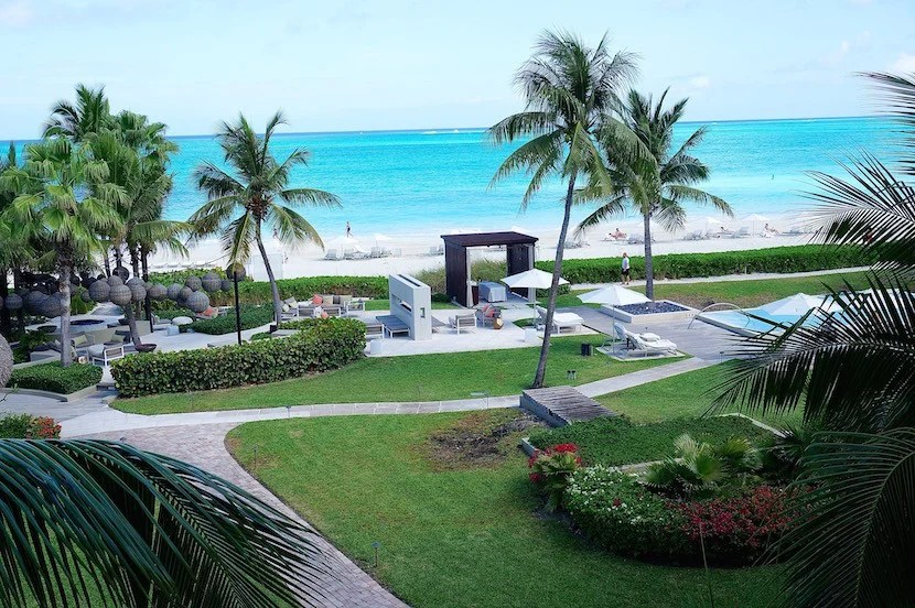 The view from my balcony at Grace Bay Club.