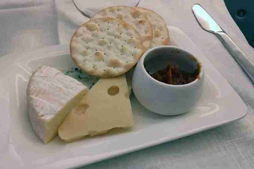 The delicious cheese course rounded out the meal.