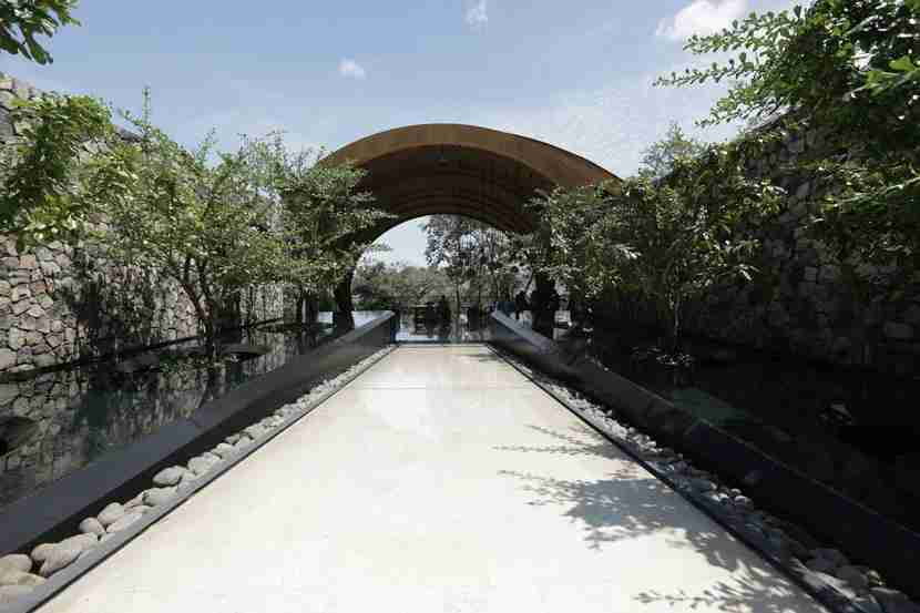 The entrance to the Andaz Peninsula Papagayo Resort.