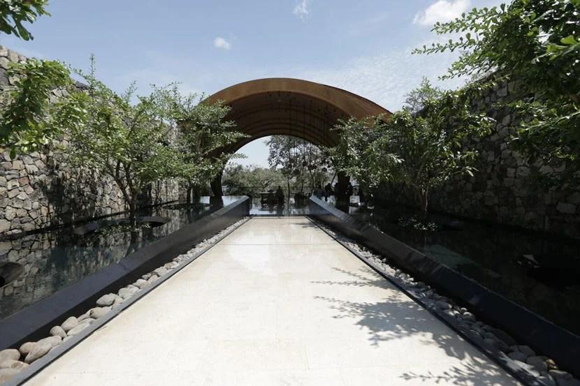 The entrance to the Andaz Peninsula Papagayo Resort.