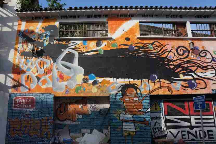 The Getsemani neighborhood is covered with street art and graffiti — and comes alive at night.