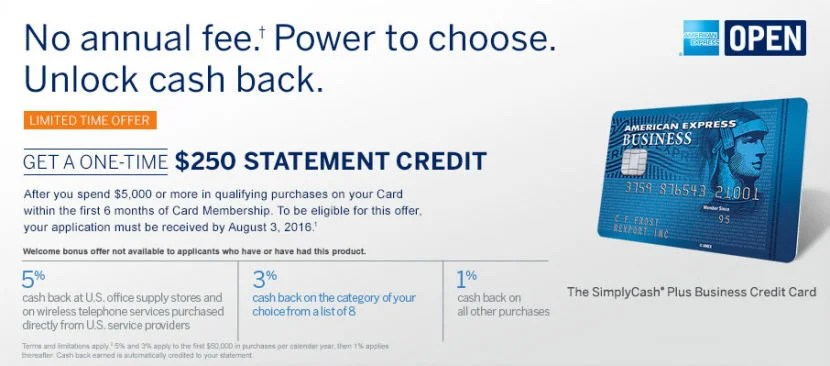 Earn a $250 statement credit after you spend $5,000 in the first three months.