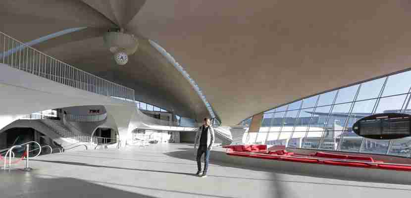 A rare peek inside the TWA Flight Center at JFK.