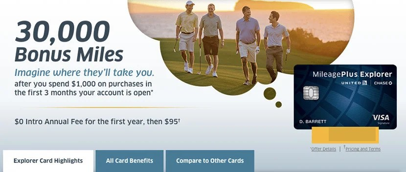 Earn 30,000 bonus miles with the MileagePlus Explorer Card from Chase.