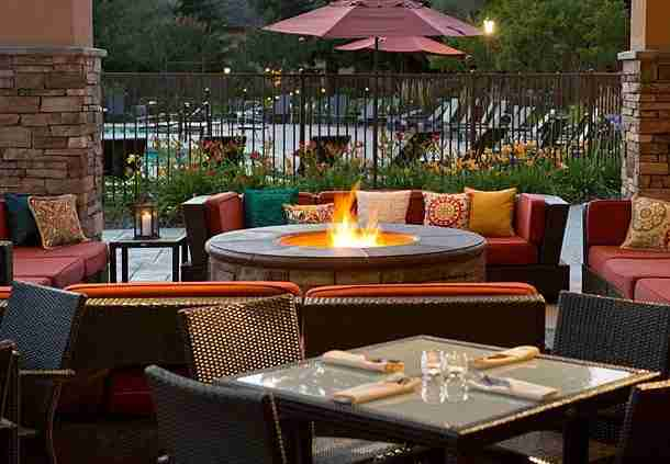 At least sitting by the fire pit is free. Image courtesy of the Napa Valley Marriott Hotel & Spa.