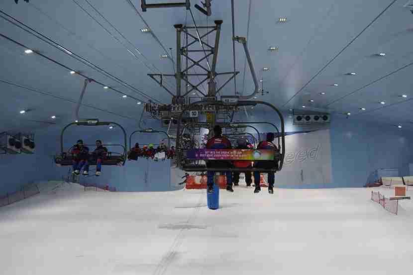 A lift at the Ski Dubai Snow Park. Image courtesy of Ski Dubai.