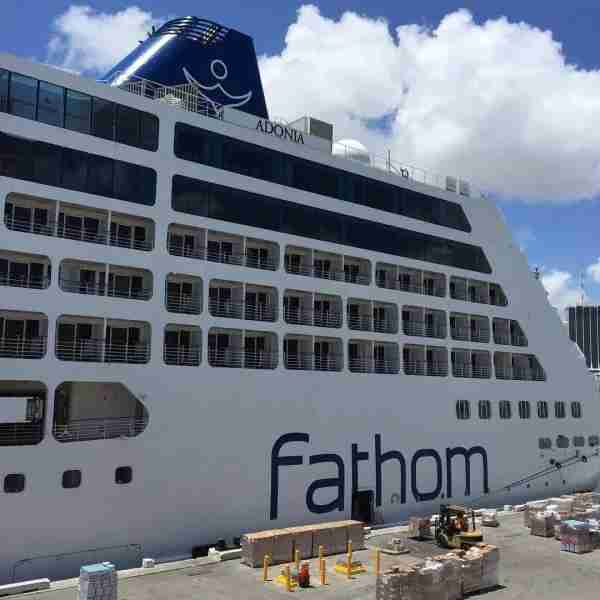 The Fathom Adonia at port in Miami.