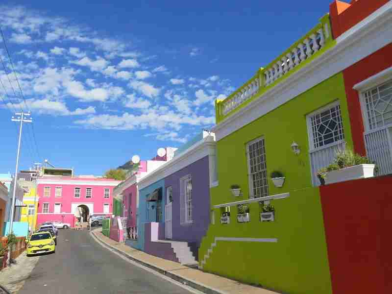 Bo-Kaap, not far from bustling Long Street, is by far the most colorful neighborhood for Cape Town photography.