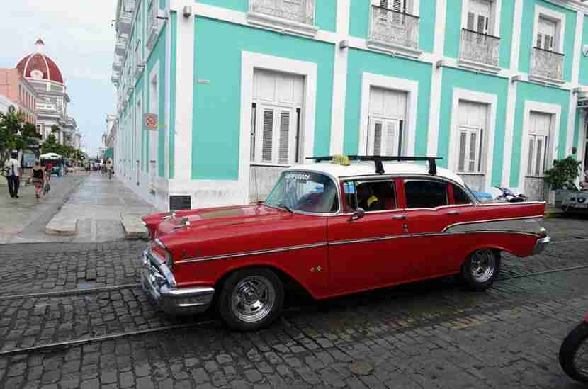 There were only a handful of classic American cars in Cienfuegos compared to all the ones we'd seen in Havana.