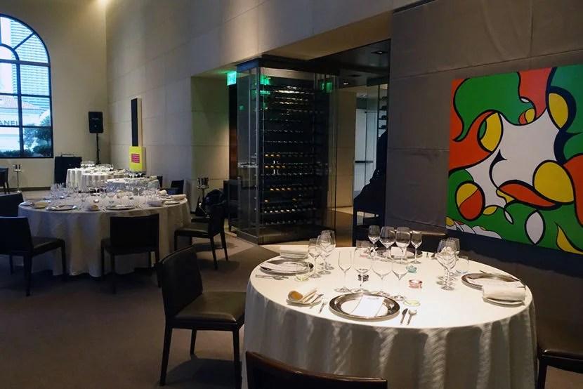 Inside Restaurant Guy Savoy at Caesars Palace.